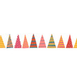 abstract colorful christmas trees seamless vector image vector image