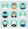 Avatar Flat Icons Set vector image vector image