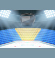 backgrounds of ice hockey arena vector image vector image