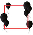 balloons frame decoration on white background vector image vector image