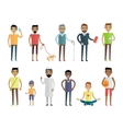 Big Set of People Characters in Flat Style vector image