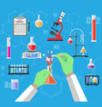 biology science education equipment vector image vector image