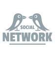 bird social network logo simple gray style vector image vector image