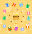birthday cake seamless pattern vector image vector image