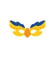 brazil garotas mask flat style icon design vector image vector image