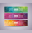 bright banner set with abstract polygonal design vector image vector image