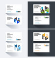 business card template with colourful vector image vector image