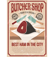 Butcher Shop Poster vector image vector image