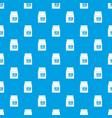 cat food bag pattern seamless blue vector image vector image