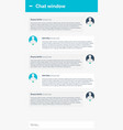 chat interface sms messenger ui ux material vector image vector image