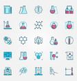 chemistry science icons set chemical vector image