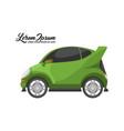 city car design green series vector image vector image