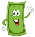 dollar cartoon vector image vector image