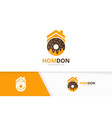 donut and real estate logo combination vector image