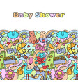 doodle baby shower mock up vector image vector image