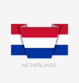 flag of netherlands flat icon waving flag with vector image