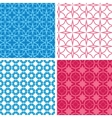 Four blue and red abstract geometric patterns and vector image vector image