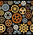 gears pattern round shape technical circle shapes vector image