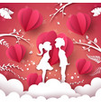 girl and boy love each other vector image