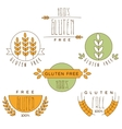 Gluten Free Natural Product Label vector image vector image