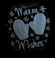 hand drawn chalk lettering warm wishes vector image