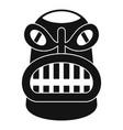 hawaii idol statue icon simple style vector image vector image
