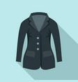 horse riding jacket icon flat style vector image