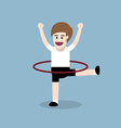 hula hoop exercise vector image vector image