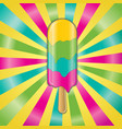ice cream on a stick vector image vector image