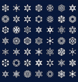 icons snowflakes vector image vector image