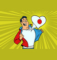 japan patriot male sports fan flag heart vector image vector image