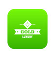 jewelry gold icon green vector image vector image