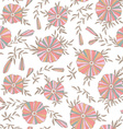Light Seamless pattern with elegant flowers vector image vector image