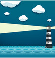 lighthouse tower at sea vector image