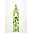 London go green concept vector image vector image