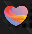 love abstract background vector image vector image