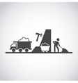 mining industry concept icon vector image