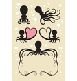 Octopus Symbol Decorations vector image vector image