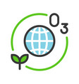ozone layer and plant with globe or planet earth vector image