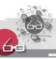 Paper and hand drawn glasses emblem with icons vector image vector image