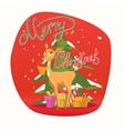Postcard merry Christmas and a happy New Year vector image