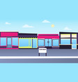 rent a store in the city vector image vector image