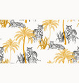 safari background jungle wild animals pattern vector image