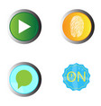 set of web buttons vector image vector image