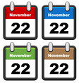simple calendars vector image