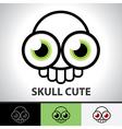 Skull cute symbol vector image vector image