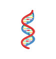 spiral dna genetic material micro and molecular vector image