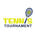 sport tennis tournament tennis background i vector image