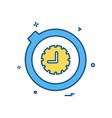 stopwatch icon design vector image