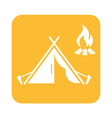 Stylized icon of tourist tent vector image